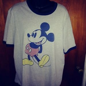 Mickey mouse ringer tshirt 2X